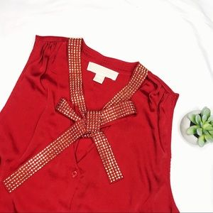 Michael Kors Red Tank Top Blouse